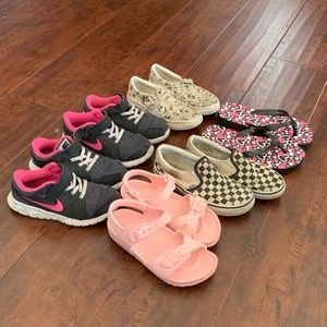 Nike Vans Checker slip on Sneaker Shoe Bundle Lot